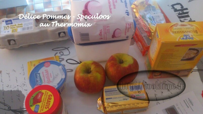 Delice pommes speculoos thermomix 1