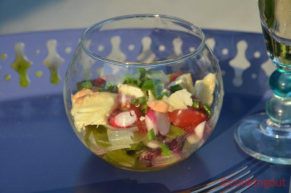 Salade de poireaux vinaigrette et époisses