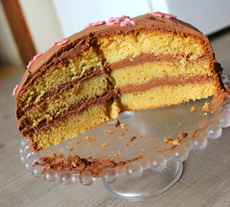 Gâteau sponge cake au chocolat