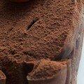 Fondant au chocolat noir & marrons glacés