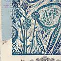 Linogravure avec france do