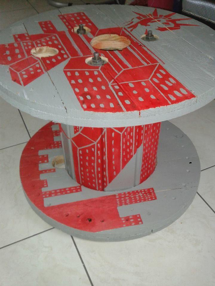 Table basse r alis e avec un touret photo de d co en tout genre effet miroir - Table avec un touret ...