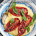 Polenta onctueuse aux tomates rôties