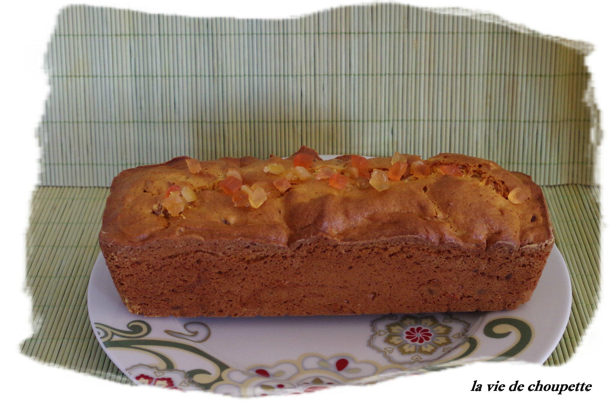 CAKE AUX FRUITS CONFITS ET POUDRE DE BAOBAB