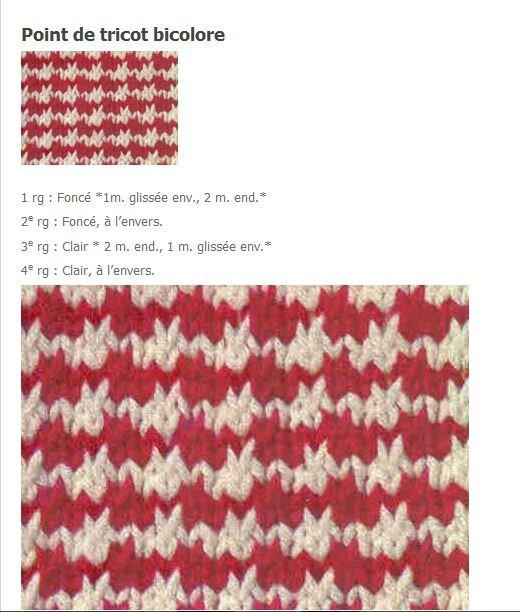 point de tricot pied de poule