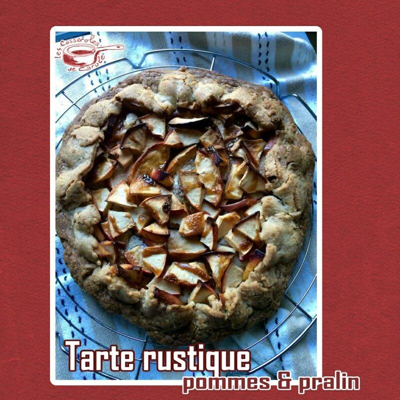 tarte rustiique aux pommes et au pralin (scrap)
