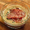 Velouté de châtaignes aux noisettes et au bacon ou poitrine fumée