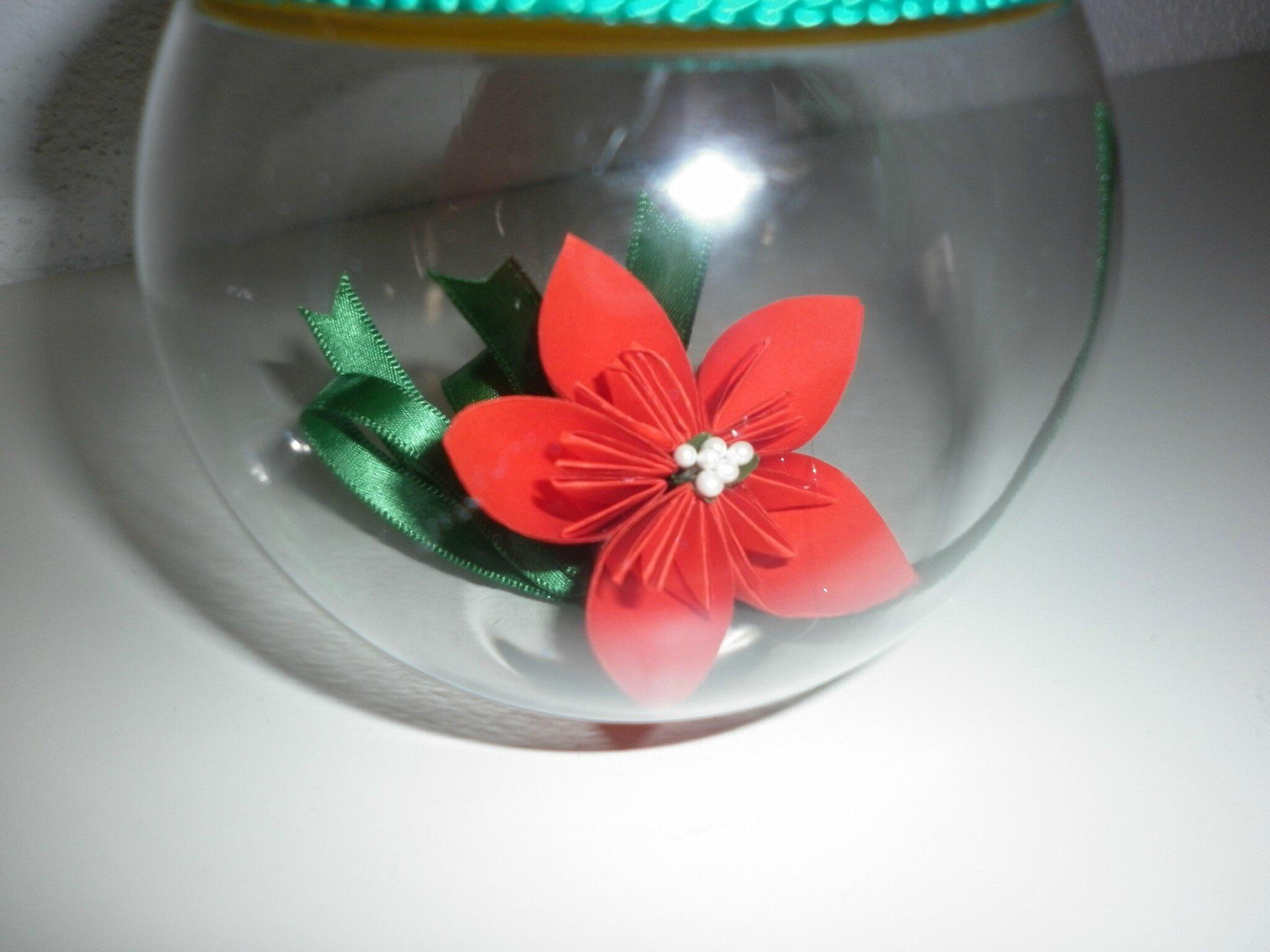 #B41818 Boule De Noël Plastique Et Fleur Papier Les Créations  5335 décorations de noel avec ruban 2048x1536 px @ aertt.com