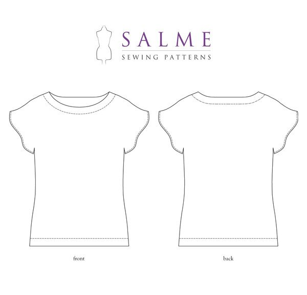 Salme Patterns - Angel Sleeve Top