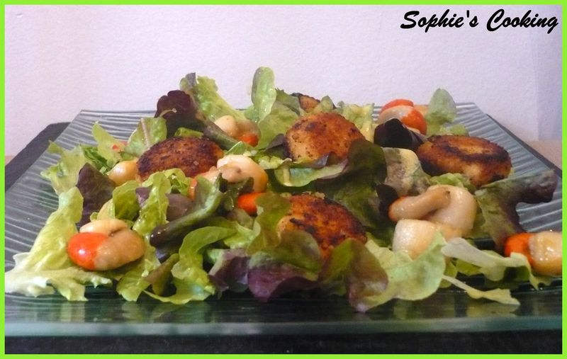 Les meilleures recettes de salades et saumon - Salade verte composee ...