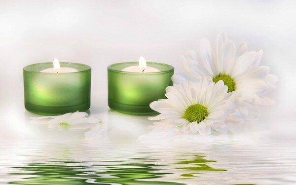 bougies vertes
