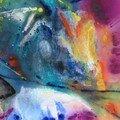 Sans titre 2008 ,technique mixte sur toile, 100 x 100 cm