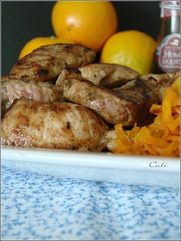 Filet de Porc Fumé & Poêlée de Carottes Râpées à l'Orange 004