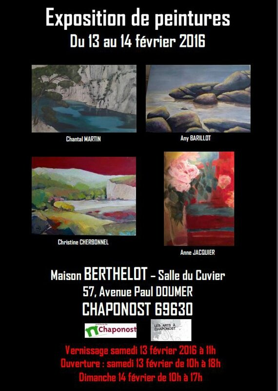 - Exposition Christine CHERBONNEL, Chantal MARTIN, Anne JACQUIER, Any BARILLOT