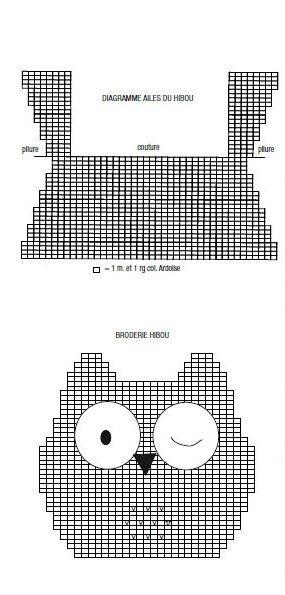 modele tricot doudou chouette