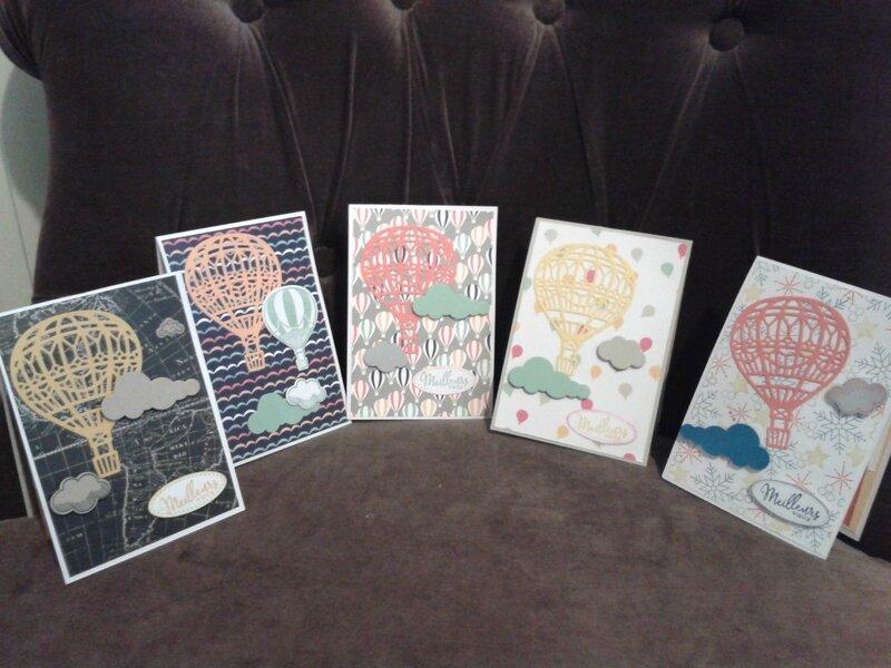 cartes twist montgolfières (la mienne en 2ème à droite)
