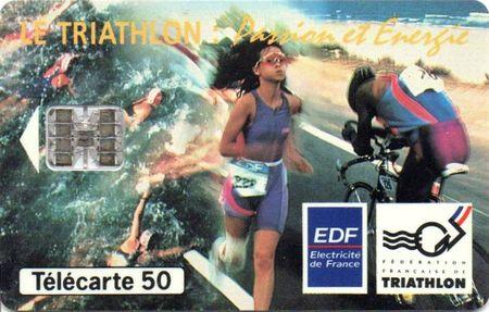 Triathlon Télécarte EDF 1993