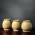 Lot de trois pots, Vietnam, dynastie des Trần (1225-1400)