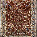 Exceptionnel, important et fin téhéran (au nord de l'iran), perse. fin xixème siècle