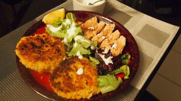 saumon mariné et galettes de quinoa-lesdelicesdemeli