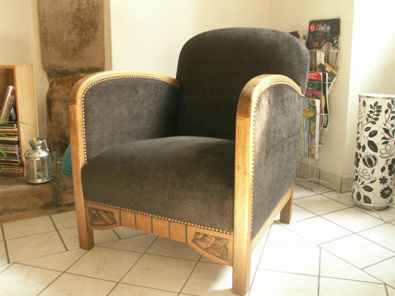 fauteuil confortable fauteuil confortable en tissu gris prince achat vente fauteuil gris soldes. Black Bedroom Furniture Sets. Home Design Ideas