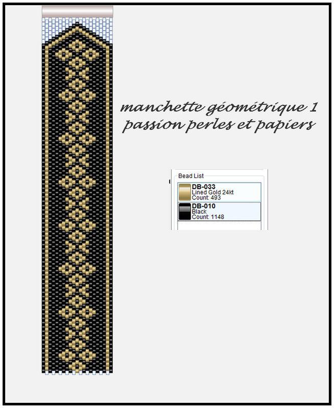 Top manchette géométrique 1 - Passion Perles et Papiers GO77