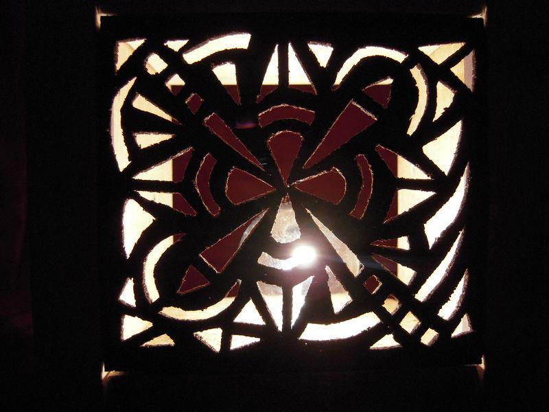 Lampe liège détail