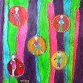 En octobre 2009, tableaux déco cernes touch' et perles