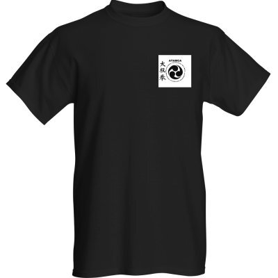 t-shirt noir logo blanc recto