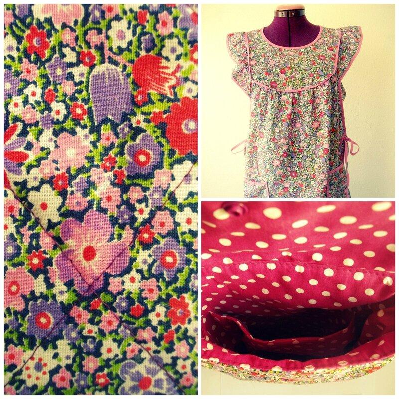 matelassage-blouse-tablier-liberty-vintage-violet-pochette-intérieur-compartiments-tissu-pois-fabric-upcycling-recyclage