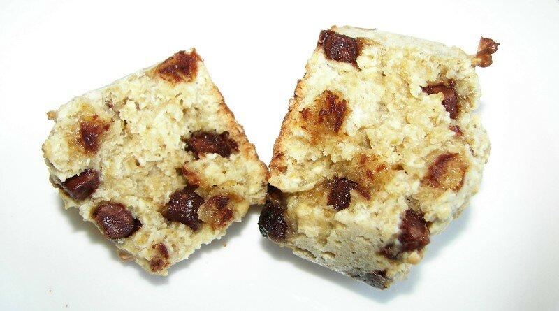 Muffins aux flocons d'avoine et pèpites de chocolat