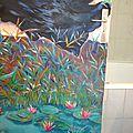 porte décor peint à la main création marimerveille