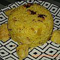 Riz safrané au poulet et citrouille
