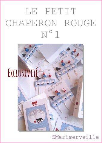 Epingles marimerveille Le petit chaperon rouge N°1