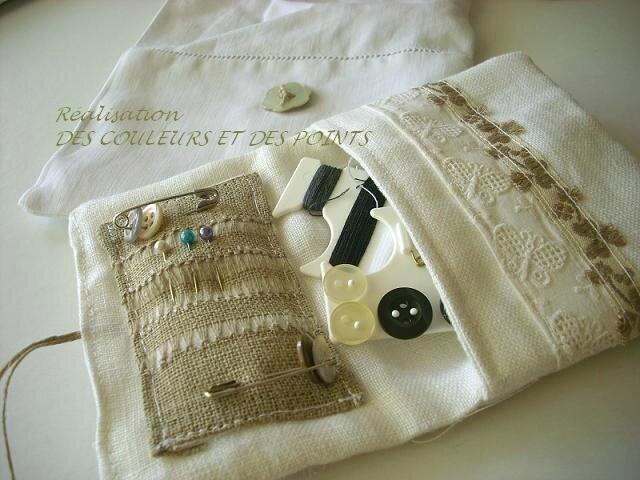 pochon couture blanc détails intérieur BIS