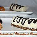 Cheesecake à la clémentine et chocolat