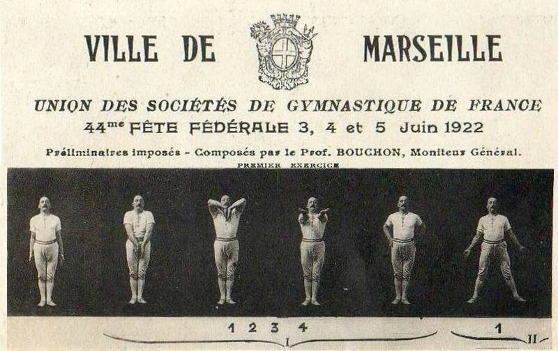 CPA Marseille 44è Fête Fédérale de Gymnastique 1922a