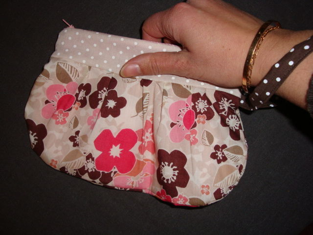 Pochette zippée girly