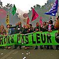 Manifestation sur le Bd Beaumarchais.