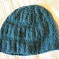 Bonnet h&m bleu canard