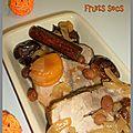 Rôti de porc aux fruits secs
