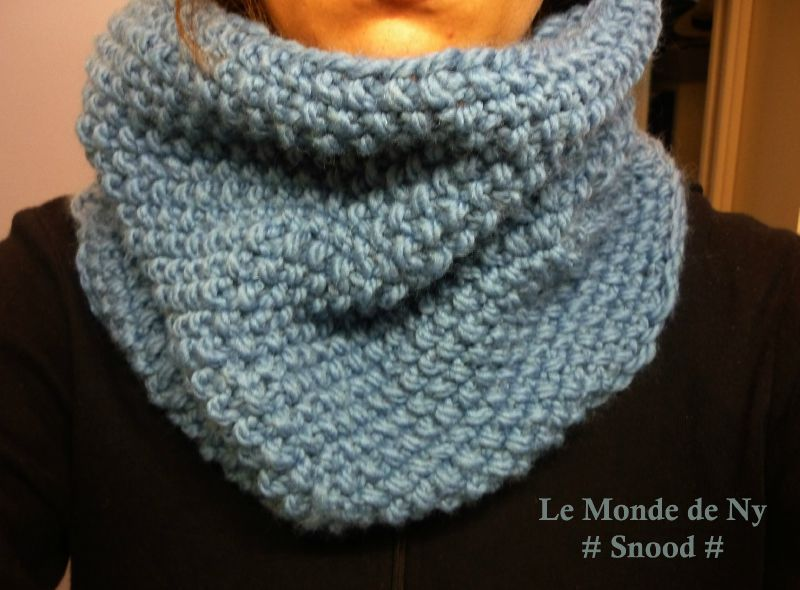 tricoter un snood au point de riz