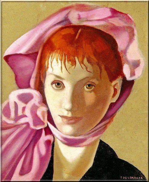 Lempicka Portrait d'une jeune fille rousse 1939-1944