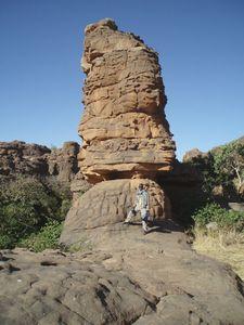 Formations façonnées par érosion Plateau Dogon Mali