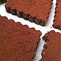 Carrés moelleux au cacao ou... comment recycler un gâteau trop sec/cuit ?