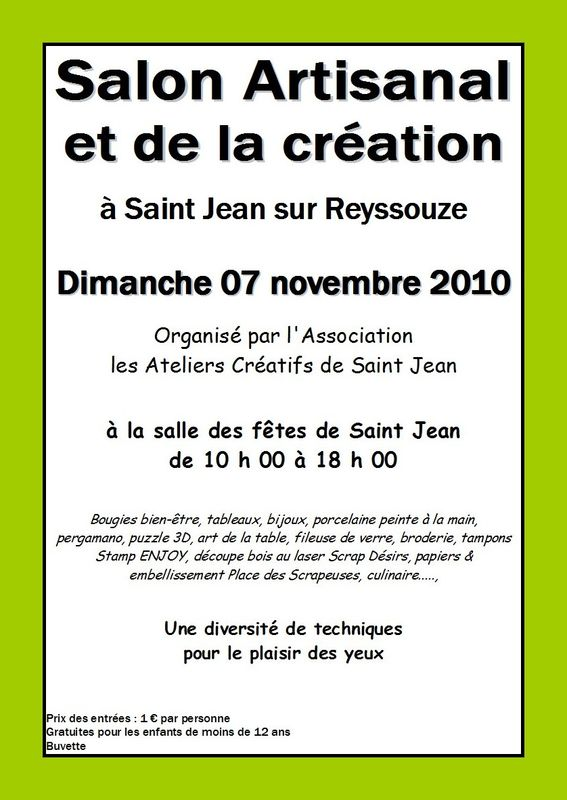7 nov 2010 salon artisanal dans l 39 ain le scrap de for Salon artisanal