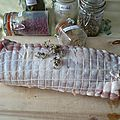 Rôti de porc confit en bocal (enchaud dans le sud -ouest)