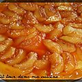 P'tite tarte tatin express aux pêches blanches