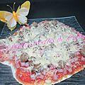 Pizza au jambon & champignons