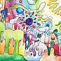 Dessin pour le cour d'arts plastiques 7 : colors